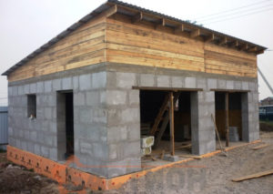 строительство гаражей из газобетона