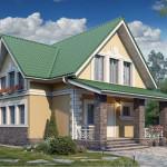 Проект дома из газобетона с мансардой Г-1