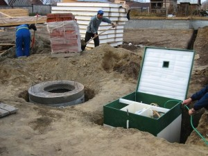 Устройство канализации на основе септика