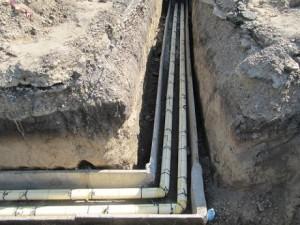 Прокладка водопровода