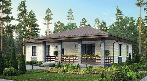Одноэтажный дом из газобетона проект