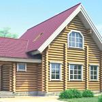Проект двухэтажного дома из оцилиндрованного бревна БР-2