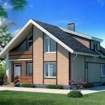 Проект дома из газобетона с мансардой Г-3