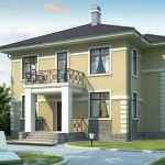 Проект двухэтажного дома из кирпича К-3