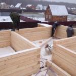 Строительство дома из бруса этапы