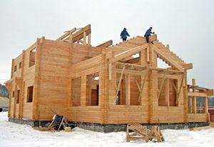 Строительство зимой в Иркутске